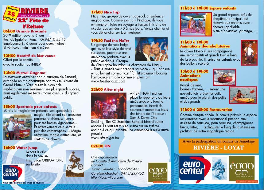 programme de la fête de l`écluse 2010